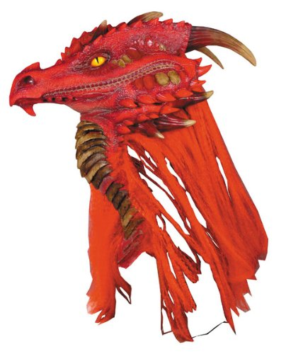 Dragon Costumes For Adults (Fire Brimstone Dragon Deluxe Adult Halloween Mask)