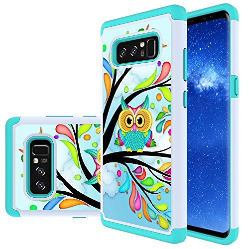 Galaxy Note 8 Case, MicroP Hybrid Dual Layer Silicone Plastic Armor Defender Phone Case Cover for Samsung Galaxy Note8