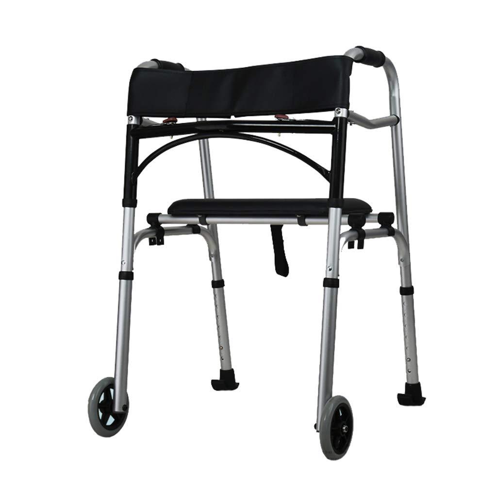 Soporte de ruedas delanteras plegables Walker para personas de la ...
