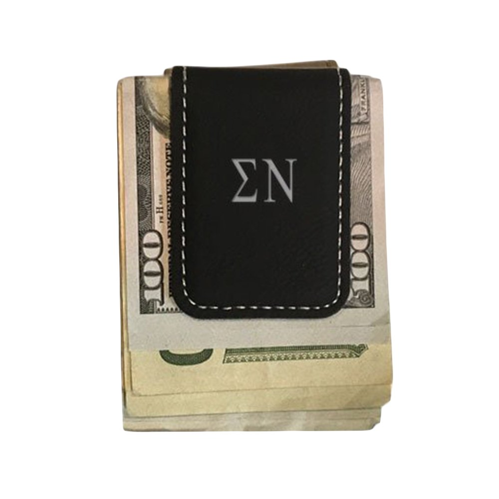 Sigma Nu Leatherette New Money Clip