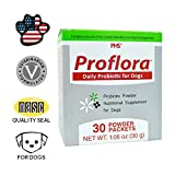 Proflora Probiotic for Dogs - Healthy Digestion - Boost Immune System - Normal Bowel Function - Skin and Coat Health - Supplement for GI Tract - 30 Servings