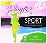 Playtex Sport Tampons with Flex-Fit Technology, Super, Unscented - 36 Count