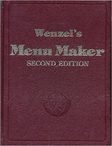 Free downloads for kindle books Wenzel's Menu Maker (Norwegian Edition) PDB