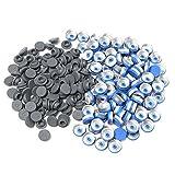 BMGIANT 1000pcs 20mm Butyl Rubber Stopper Plug and 1000pcs Aluminum FILP Off Cap for Glass Bottle Vials