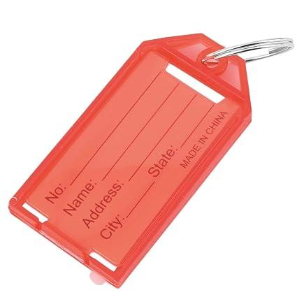 precio especial para más cerca de hombre WEIWEITOE 1Pc Etiquetas plásticas para llaves Llaveros de ...