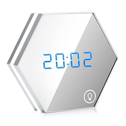 NAOZHONG Reloj Despertador Multifunción LED Digital con ...