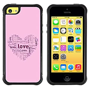 LASTONE PHONE CASE / Suave Silicona Caso Carcasa de Caucho Funda para Apple Iphone 5C / BIBLE Love Hope Faith