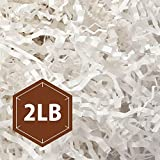 PACKHOME 2 LB Crinkle Cut Paper Shredded Paper Shred Filler, Premium Quality for Gift Packing and Baskets Filling (Snow White)