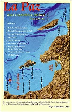 La Paz Fishing Chart Guide Baja 9781929394074 Amazon Books