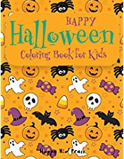 Happy Halloween Coloring Book: Halloween Coloring Books for Kids   Halloween Designs Including Witches, Ghosts, Pumpkins, Haunted Houses, and More   Boys, Girls and Toddlers Ages 2-4, 4-8 (halloween kids, halloween tree)
