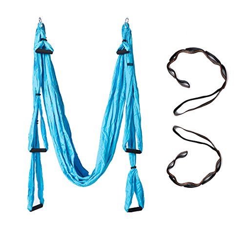 Fishonly Ultralight Aerial Yoga Swing Anti Gravity Inversion Exercises Durable Lose Weight Yoga Hammock Sling Trapeze 2 Extension Strap