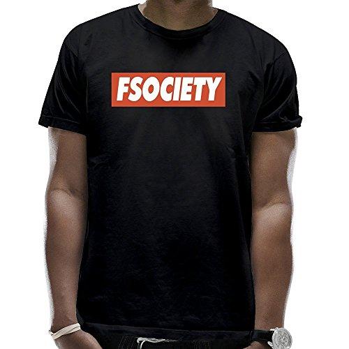 Men's Fsociety Logo T-Shirts Black
