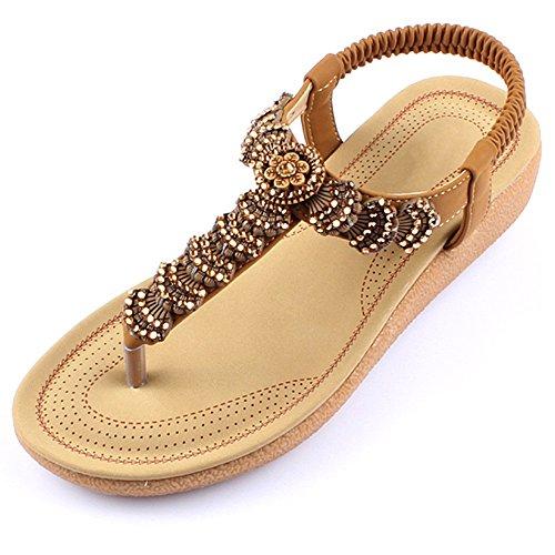 XIAOLIN クリップトウサンダル女性の夏の学生フラットヒールの靴サンダルビーチシューズ女性(2色可能)(オプションのサイズ) (色 : 01, サイズ さいず : EU36/UK3.5/CN35)