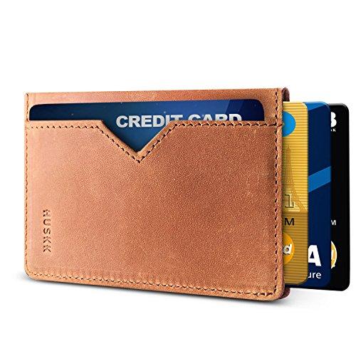 (Men Wallet - RFID Minimalist Slim Front Pocket Card Travel Holder Clip (One Size, Light Brown[CSC6-LBCH-RFID]))