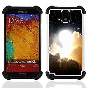"""SAMSUNG Galaxy Note 3 III / N9000 / N9005 - 3 en 1 impreso colorido de Altas Prestaciones PC Funda chaqueta Negro cubierta gel silicona suave (Futurista Ciber coche"""")"""
