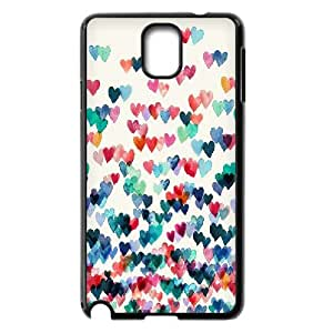Jumphigh Heart Samsung Galaxy Note 3 Cases Heart Connections Watercolor, Heart [Black]