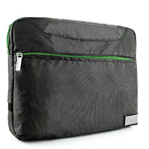 (For Acer 10-Inch Tablet, VanGoddy Tablets Messenger Bag NineO Bag Suitable for Laptop/Tablets of 8-10.1 inch (Gray/Green))