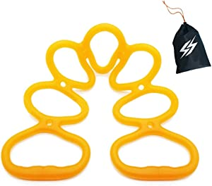 WareBi 7 Ring Resistance Stretch Exercise Band - Yoga Pilates Stretching, Workout Gluteus Butt Booty Growing, Portable Home or Gym