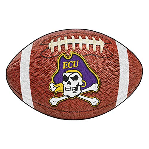 FANMATS NCAA East Carolina University Pirates Nylon Face Football Rug (Fanmats East Carolina University)