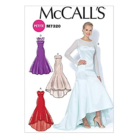 McCalls Ladies Sewing Pattern 7320 Mermaid Hem & High Low Evening Dresses