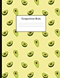 #5: Composition Book: Avocado Pattern College Ruled Notebook for Taking Notes Journaling School or Work for Girls