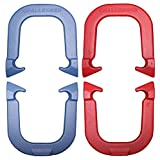 Challenger Professional Pitching Horseshoes Set- made in USA! (Red & Blue- Two Pair Set (4 shoes))