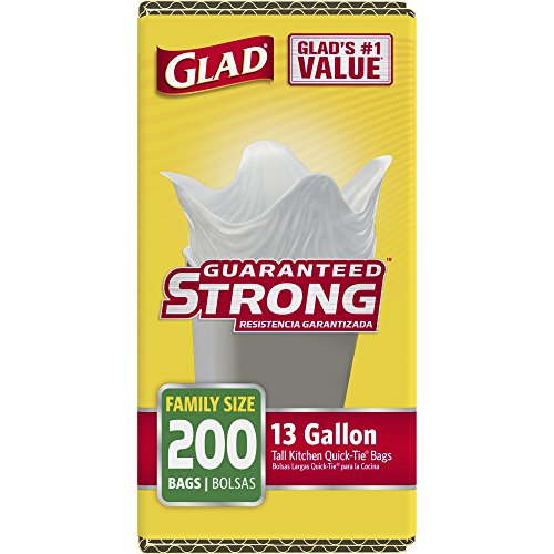 Glad Tall Kitchen Quick-Tie Trash Bags - 13 Gallon - 200 Count by Glad (Image #4)