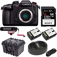 "Panasonic GH5S Lumix C4K / 4K UHD 4:2:2 10-bit Mirrorless (DC-GH5S), Wi-Fi + BT,3.2"" LCD 64GB with Rode VideoMic Go Bundle"