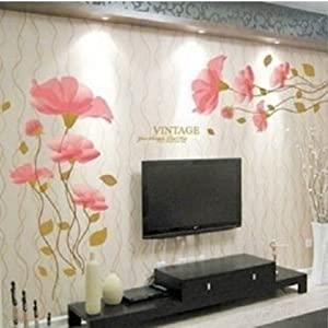 diy removable wall art decal lotus flower home room decor vinyl art wall decal