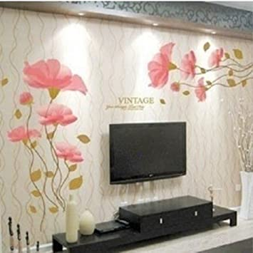 DIY Removable lotus flower Home room Decor Removable Wall Sticker