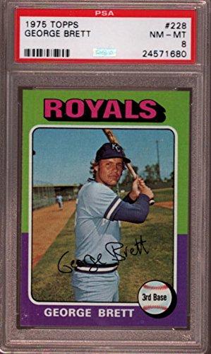 Amazoncom George Brett Psa Graded 8 Baseball Card 1975 Topps