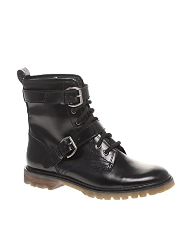 6996dd51b42 ASOS ALEXA Chunky Lace Up Leather Ankle Boot: Amazon.co.uk: Shoes & Bags