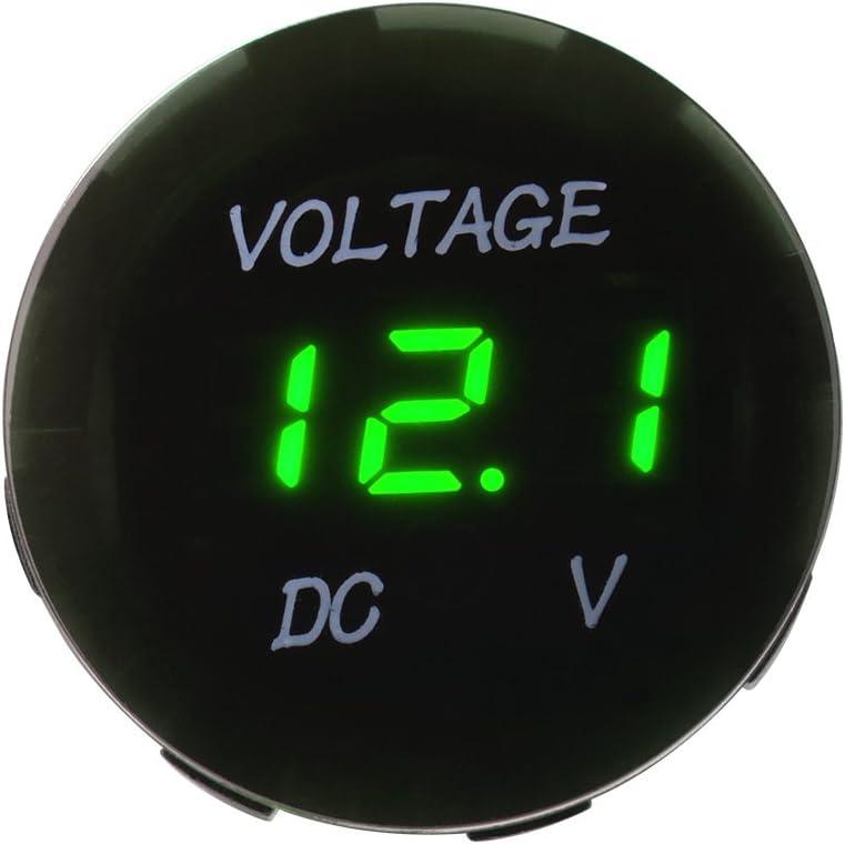 XCSOURCE Waterproof Voltmeter Green LED Digital Display Voltage Volt Meter Panel Gauge w// Cable for DC 12V-24V Car Motorcycle MA1083