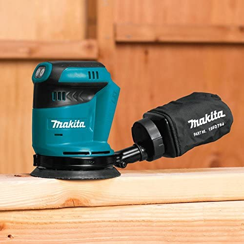Makita XTR01T7 18V LXT Lithium-Ion Brushless Cordless Compact Router Kit with Makita XOB01Z 18V LXT Lithium-Ion Cordless 5-Inch Random Orbit Sander Tool Only