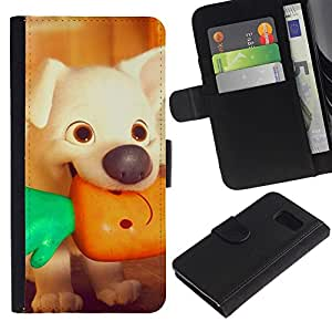 All Phone Most Case / Oferta Especial Cáscara Funda de cuero Monedero Cubierta de proteccion Caso / Wallet Case for Samsung Galaxy S6 // perrito de la historieta viñeta vegetariana