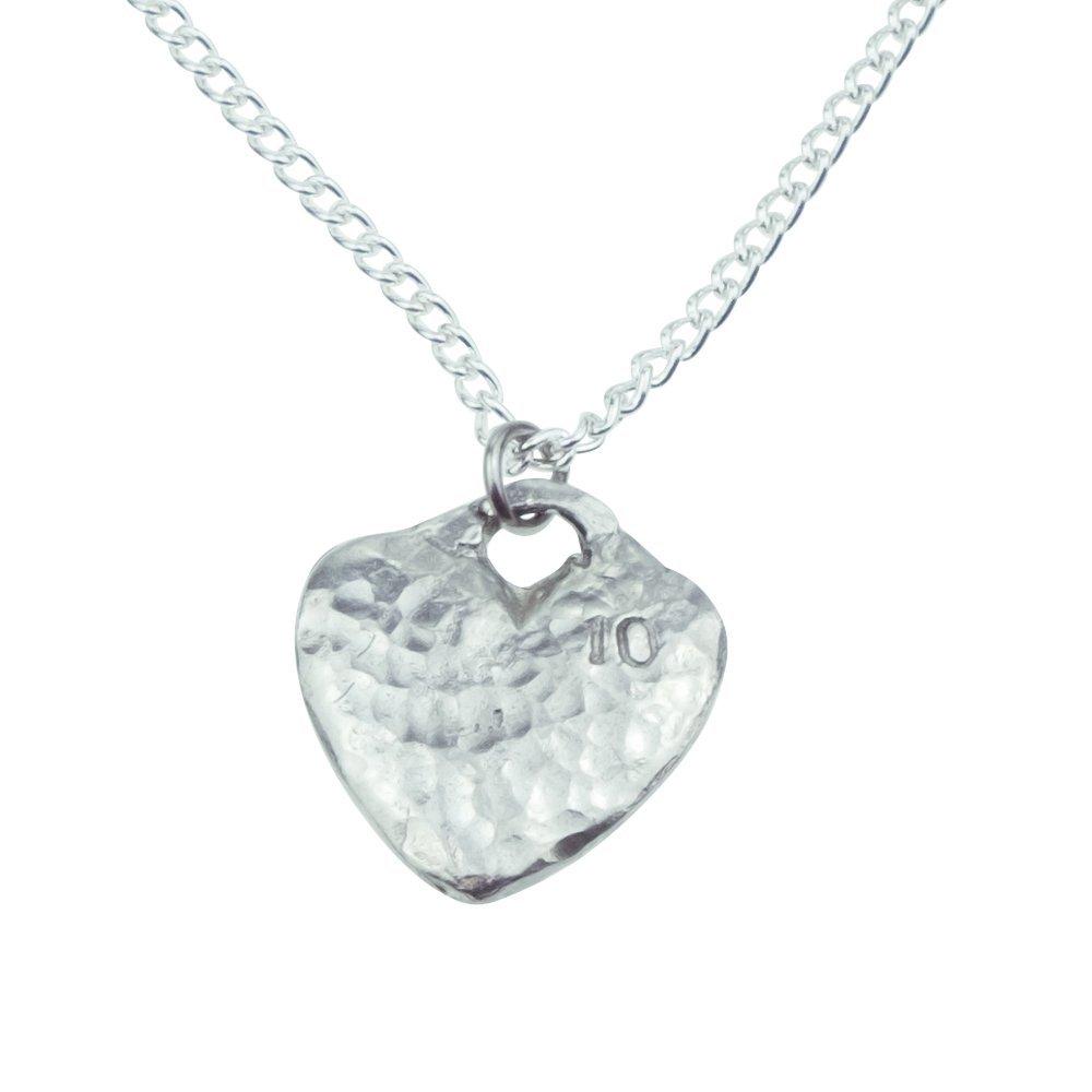 10th Anniversary Tin Gift Heart Pendant Tin Gifts tg402b