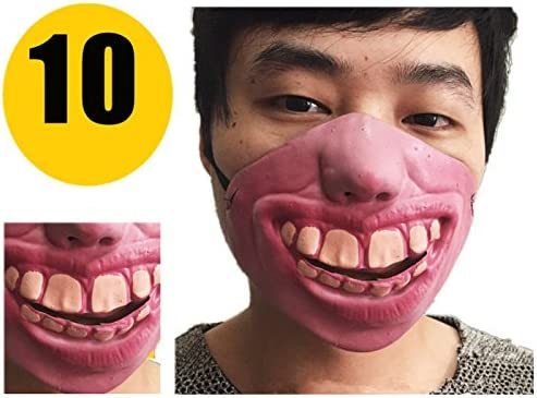 ZQQ Funny Face Mask Halloween Funny Funny Face Mask Nose Latex Half Face Mask Spoof Tricky Game Props