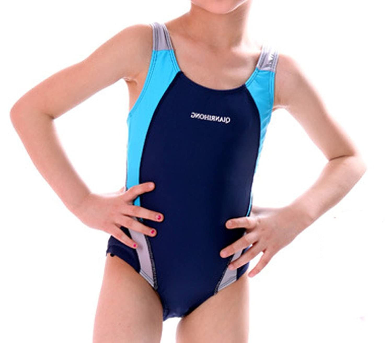 fdd931abe8 Demarkt Kids Girl Swimming Training Costume Swimsuit Swimwear Monokinis:  Amazon.co.uk: Clothing