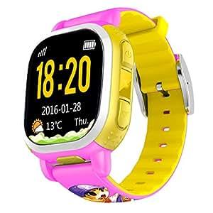 Tencent QQwatch GPS Tracker SOS alarma Wifi localización de los niños Smart Watch Phone SMS pasos de voz de chat para los niños seguridad segura