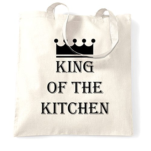 King Of The Kitchen Master Chef Cooking Cook Funny Slogan Tote Bag