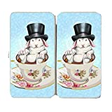 Rabbit Hole Funny Bunny in Teacup w/ Top Hat - Taiga Hinge Wallet Clutch