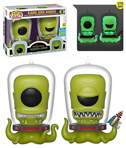 All Simpsons Halloween Episodes (Funko Pop! Simpsons Treehouse of Horror Kang and Kodos Exclusive 2 Pack Shared Sticker Summer Convention Exclusive)