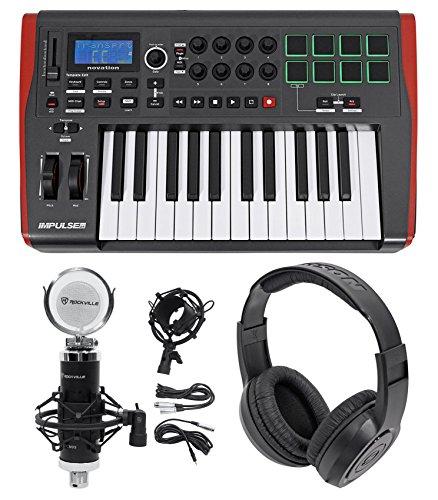 Novation IMPULSE 25 Ableton Live 25-Key USB Keyboard Controller+Mic+Headphones