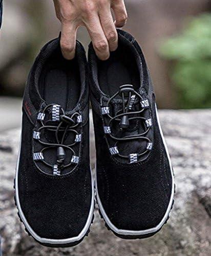アンドモア ウォーキングシューズ メンズ スリッポン ゴムひも ほどけない紐靴 ぬぎ履き簡単