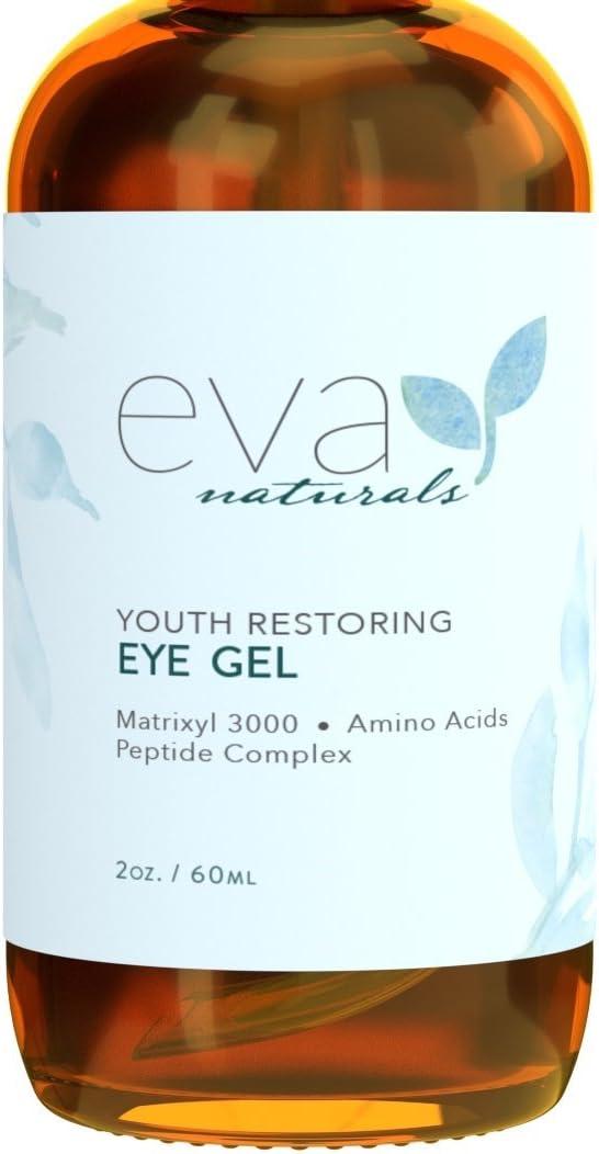 Gel de Ojos -La Mejor Crema Reafirmante de Tratamiento de Ojos para Ojeras, Ojos Hinchados, Patas de Gallo, Eva Naturals (60ml))