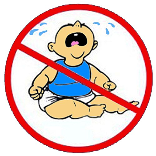 4 pieces SET   No Cry Babies   Hard Hat Sticker   Decal   Helmet Label Rude -