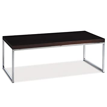 Wallstreet Coffee Table, Chrome And Espresso
