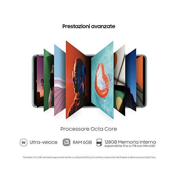 "Samsung Smartphone Galaxy S20 FE 5G, Display 6.5"" Super AMOLED, 3 Fotocamere Posteriori, 128 GB Espandibili, RAM 6GB, Batteria 4.500mAh, Hybrid SIM, Blu (Cloud Navy) 6"