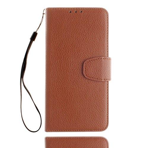 inShang iPhone 7 Funda Soporte y Carcasa para Apple iPhone7 4.7 inch,funda con suporte funzione, con construir-en cartera , Wallet design with card slot Lichi brown