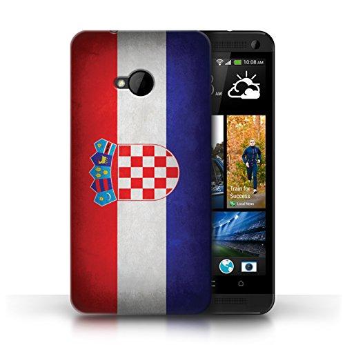 Etui / Coque pour HTC One/1 M7 / Croatie conception / Collection de Drapeau